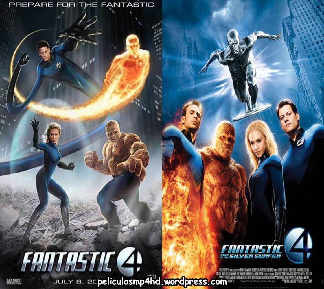 Descargar Película Saga LOS 4 FANTÁSTICOS (Fantastic Four) MP4 HD720p Latino