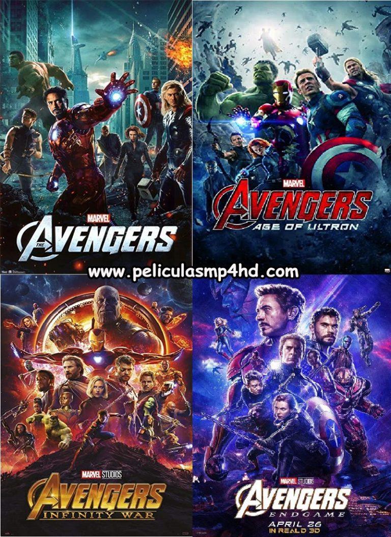 Saga LOS VENGADORES (The Avengers) [HD 720p, Latino, MEGA]