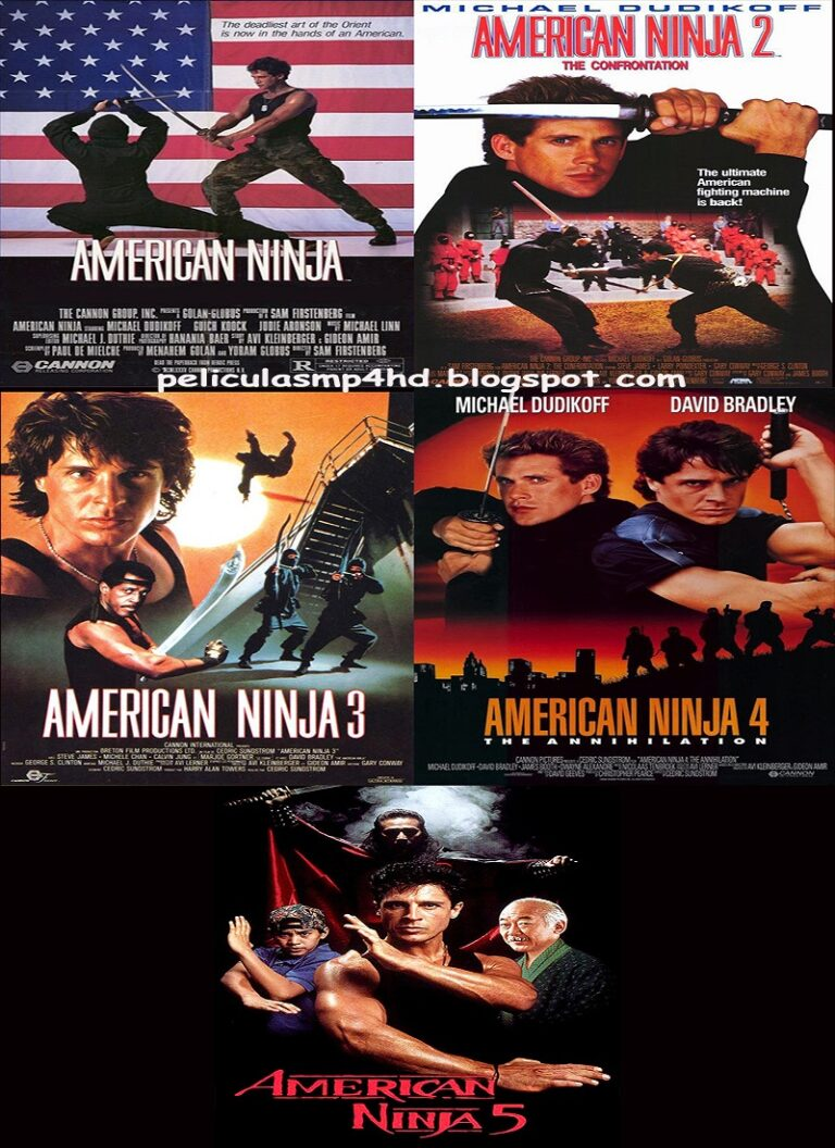 Saga NINJA AMERICANO (American Ninja) [HD 720p, Latino, MEGA]